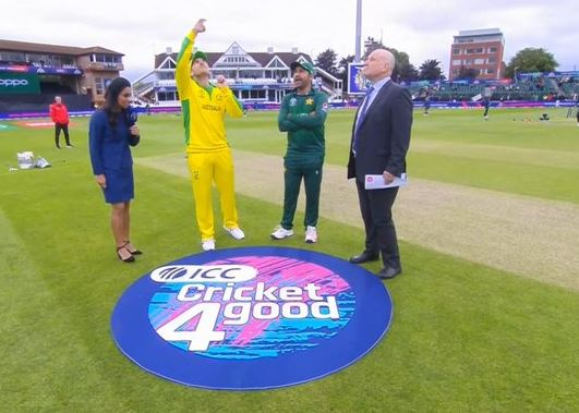 The two captains during the toss.