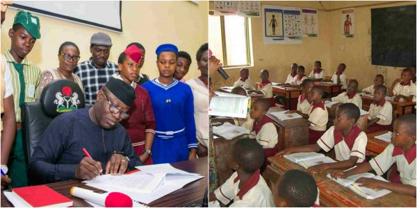 Fayemi-signs-executive-order-for-free-education-in-Ekiti-orisun-tv-yoruba-ekiti