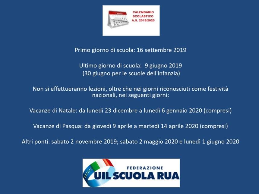 Calendario Scolastico 2020 20 Emilia Romagna.Calendario Scolastico 2019 20 In Calabria Lezioni Iniziano