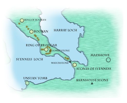 Map of Stenness, Orkney : Sigurd Towrie