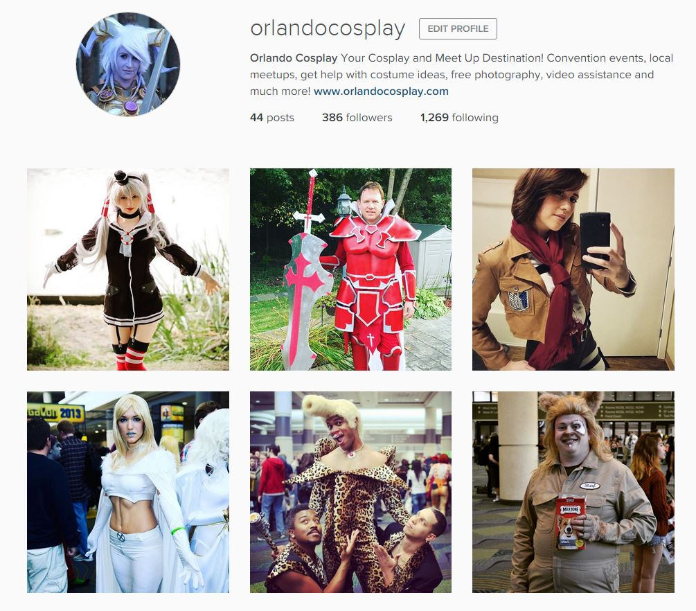 Orlando Cosplay Instagram
