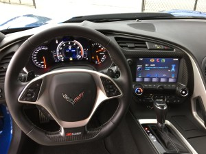 Dash mounted Passport 9500 display screen and controller in 2015 Chevrolet Z06 Corvette.