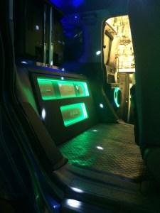 Custom RGB LED lights installed in a Honda Element mobile DJ vehicle.
