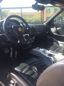 Ferrari 360 Spyder with Pioneer flip out installed.
