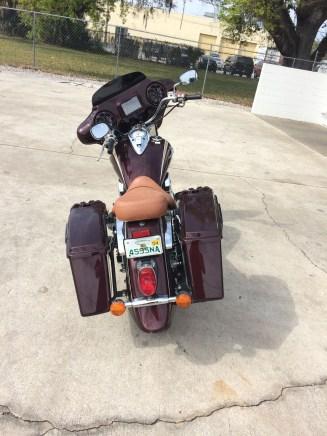 Custom Molded saddle bags and custom fairing with Kicker Marine audio
