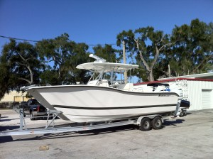 2014 Ameracat with 20 inch Rigid SR series light, Furuno Radar, and Automatic Anchor.