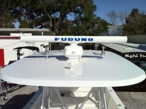 Furuno Navnet GPS radar installed in a 2014 Amaracat 27'.