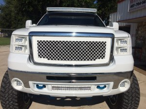 "54"" curved, 20"" curved, 2 Dually XL's and 4 4"" E series light bars installed on a 2008 GMC 2500."