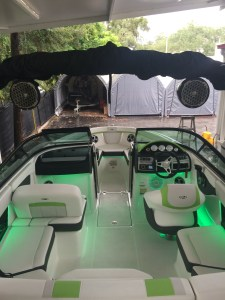 Color matched accent lighting for 2016 Regal 2000 ESX Bowrider.