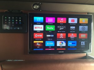 "40"" Samsung Tv And Ipad Installed in Armored Truck Limo"