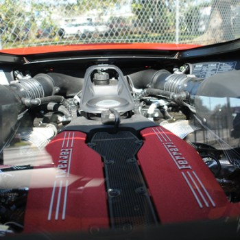 mid engine ferrari view