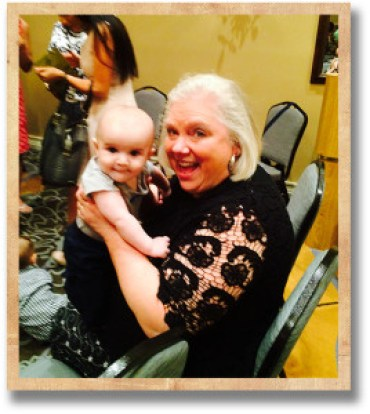 Kathy with her grandson Eli!