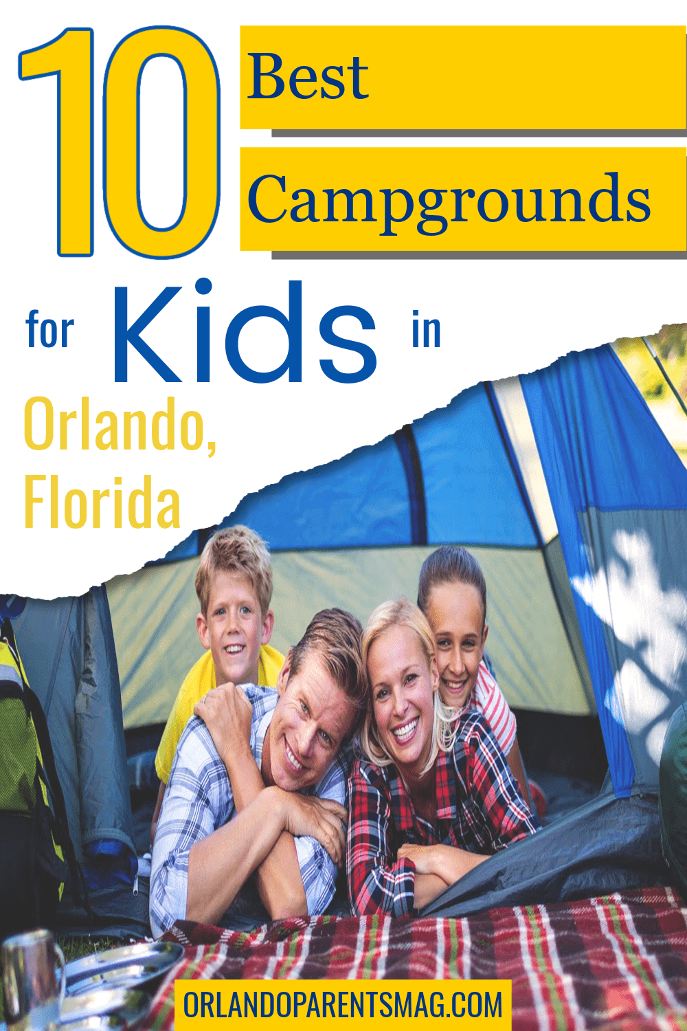 camping with kids in orlando