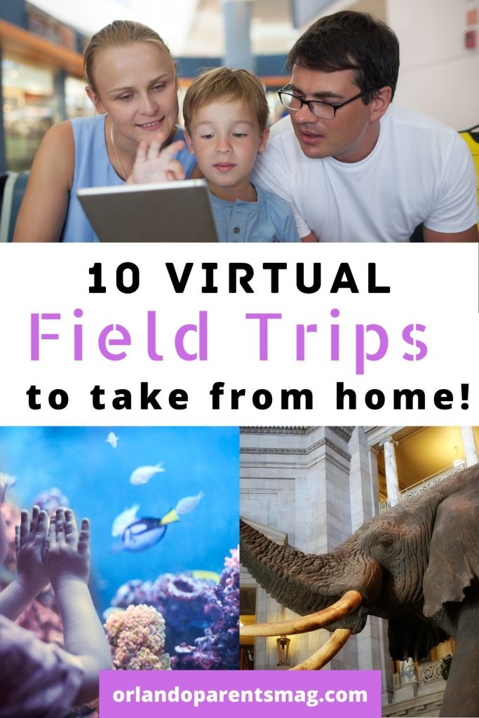 virtual field trips with kids