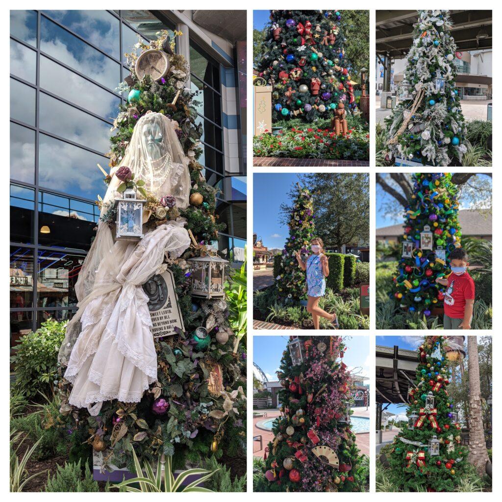 disney springs christmas tree stroll