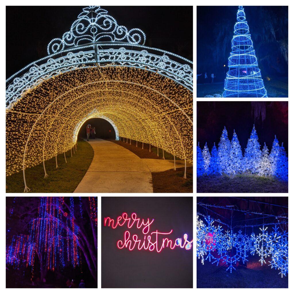 christmas lights at leu gardens