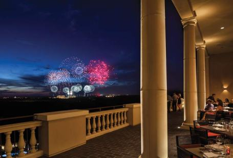 View of the Magic Kingdom Fireworks