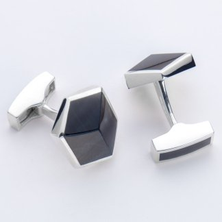 Orlap Studio hallmarked sterling silver blue tigers eye mens cufflinks