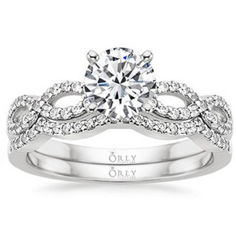 Infinity Wedding Ring Set - Luxurious Engagement Rings