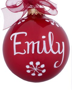 Painting On Christmas Ornaments How We Personalize With Names Ornament Shop