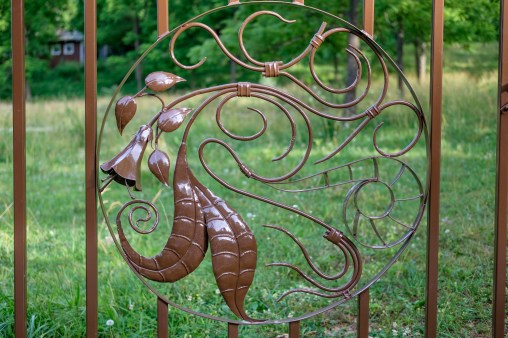 Part of the detailing on the new gate.
