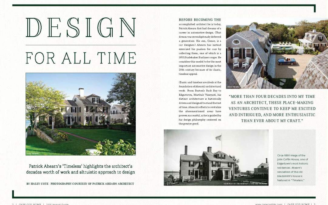 Design for All Time Reviews Timeless by Patrick Ahearn