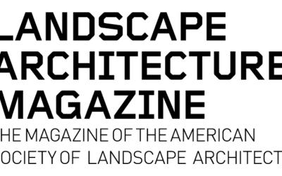 LAM – Landscape Architecture Magazine Features Design Visualization for Spring