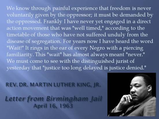dr king freedom must be demanded