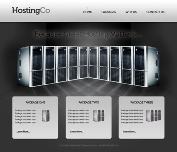 Sleek hosting layout