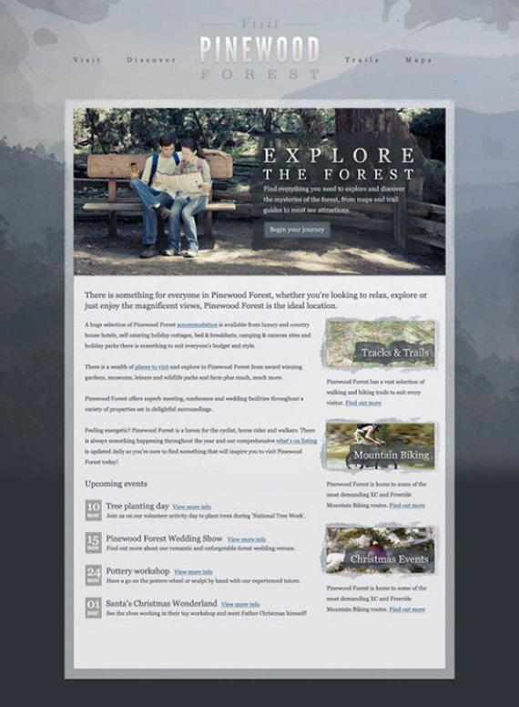 Textured web layout