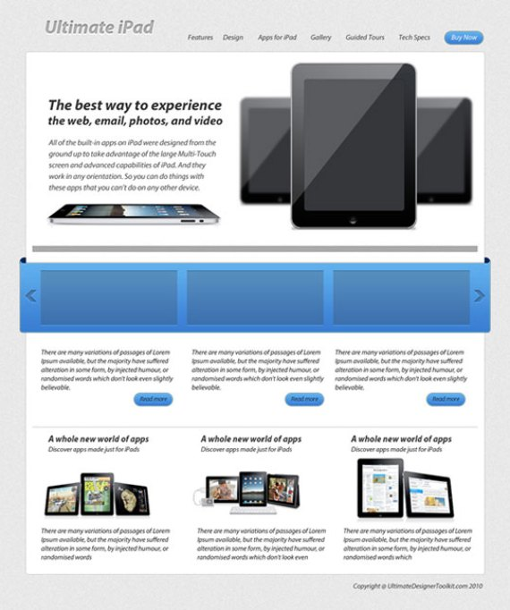 iPad Layout