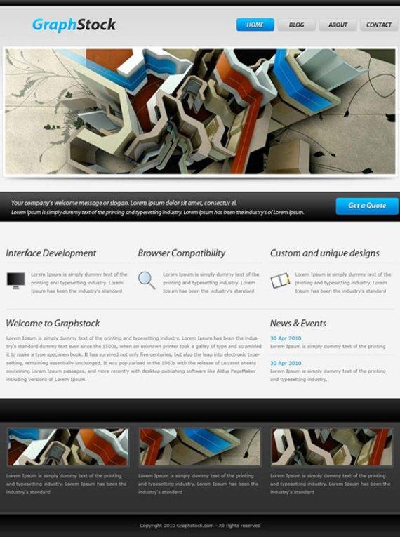Impressive blog layout