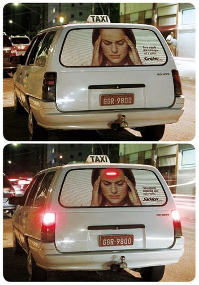 Saridon Taxi Advertising