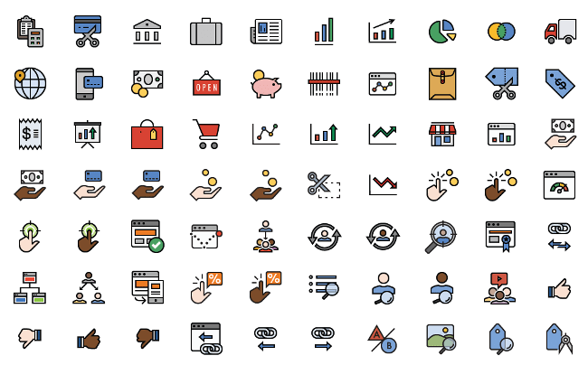 Line Icons & Filled-Line Icons