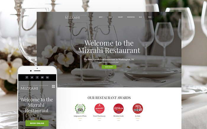Kosher Restaurant WordPress Theme