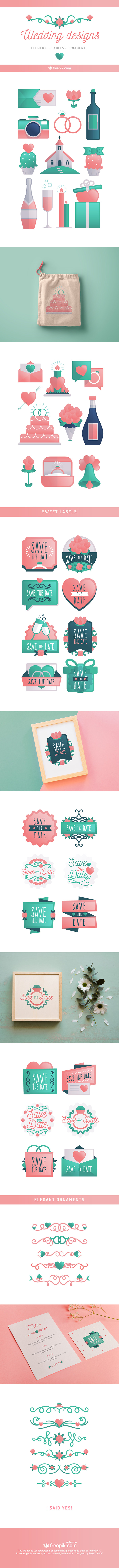 Fresh and lovely wedding designs for fun and colorful weddings by find more wedding inspired icons invitations and embellishments at freepik and flaticon you will find everything youd ever need to design the perfect stopboris Images