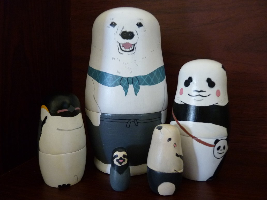 polar_bear_cafe_russian_dolls_by_4649kokeshi-d5o2ycl