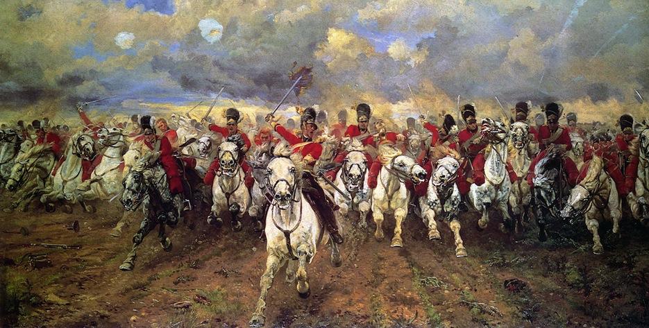 Waterloo carica degli inglesi