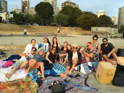 YACers at Sunset Beach Jul 2015