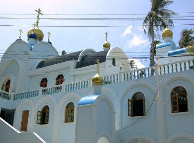 Вознесенский храм на о.Самуи. Пасхальный крестный ход (Пасха 2015).