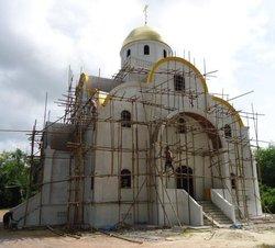 строительство храма во имя Святой Троицы на Пхукете (май 2011)
