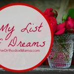 My List of Dreams