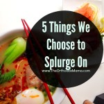 5 Things We Choose to Splurge On