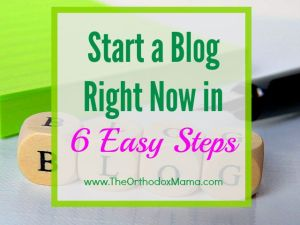 Start a Blog Right Now in 6 Easy Steps