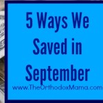 5 Ways We Saved in September