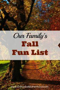 Our 2018 Fall Fun List