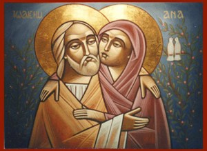 Joachim and Annna Coptic Orthodox icon