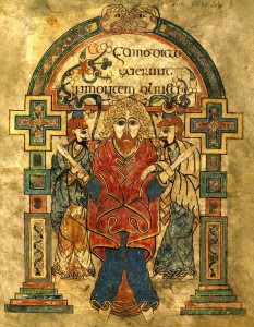 Book of Kells - complete manuscript227 Jesus arrested in the garden-edit