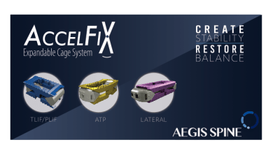 Photo of Aegis Spine, Inc., an innovative subsidiary of L&K BioMed, is proud and eager to announce FDA 510(k) clearance of the new AccelFix Expandable Cage System