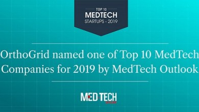 Photo of OrthoGrid Systems Selected as a 2019 Top 10 MedTech Startup by MedTech Outlook